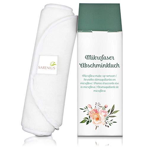 Panno struccante in microfibra - detergente viso e panno struccante - riutilizzabile e lavabile.