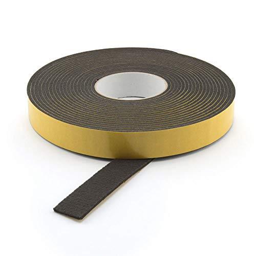 GleitGut Filzband selbstklebend schwarz Länge: 3 m auf der Rolle Filzklebeband Meterware Breite: 20 mm Stärke: 3 mm Filzstreifen