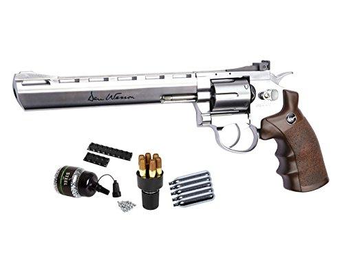 Dan Wesson 8' CO2 BB Revolver Kit, Silver air pistol