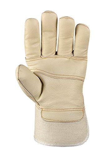 180 Paar - Möbelleder-Handschuhe helles Leder - teXXor® - 1165 - Größe 10