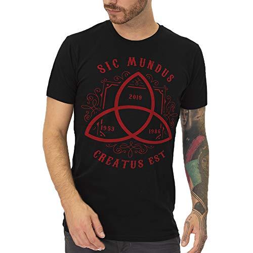 Mush T-Shirt in Cotone Biologico Uomo L Dark Serie TV SIC MUNDUS CREATUS EST