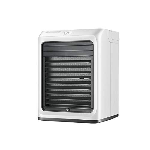 XSJZ Mini Ventilatore di Raffreddamento Ad Aria, Casa Portatile Fissata al Muro Piccolo Ventilatore di Aria Condizionata del Desktop Raffreddato Ad Acqua del Dormitorio Mini Raffrescatore Evaporativo