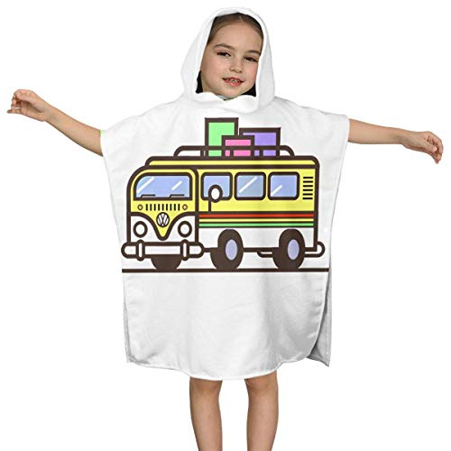 XCNGG Travel Hippie Bus Kids Toalla de baño con Capucha para niños Niños