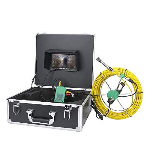 7 Pollici 17mm 17mm Pipeline Industrial Sewer ISPEZIONE Camera IP68 Impermeabile Rilevamento Scarico 1000 TVL Telecamera DVR Funzione di Registrazione DVR 8 Luci a LED,20m