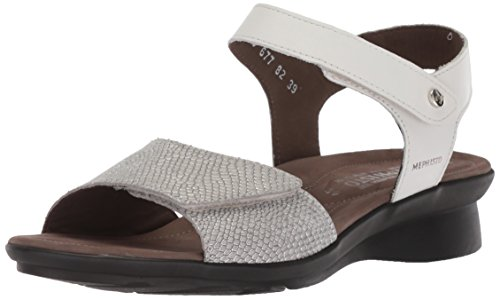 Mephisto Women's Pattie Sandal, White, 5 M US