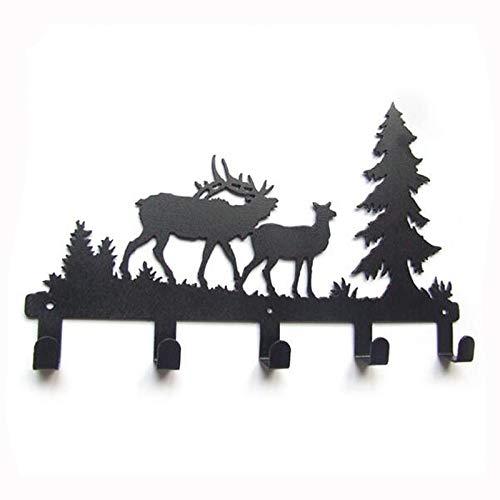 XOSHX Forest Reindeer Design gewaad haak jas/hoed/tas Cartoon muur Hanger