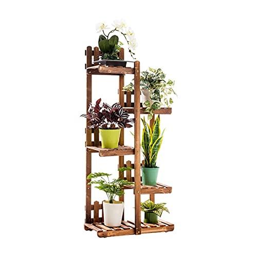 ZHANGJINYISHOP2016 Soporte para plantas de madera maciza, resistente, 5 capas, gran capacidad, balcón, sala de estar, jardín, muebles de exterior