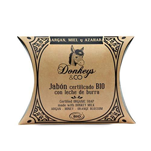 Donkey's & Co Savon bio 100g argan - miel - fleur d'oranger (au lait d'ânesse)