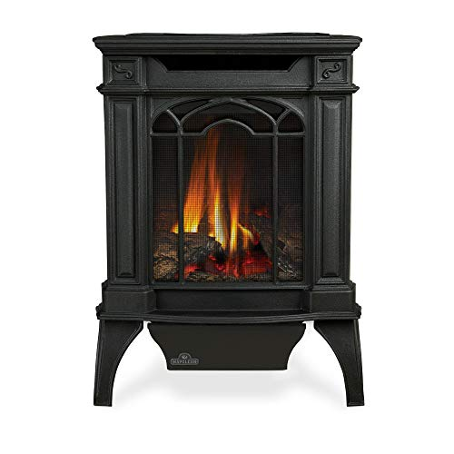 Napoleon GVFS20N Fireplace, Arlington Natural Gas Stove Vent Free 18,000 BTU - Painted Black (Stove Top NOT INCLUDED)