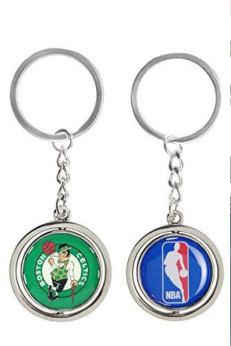 Aminco International NBA Boston Celtics Silver Spinning Logo Keychain