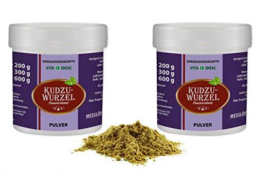 VITAIDEAL ® Kudzu-Wurzel PULVER 2x300g (Pueraria lobata) + Messlöffel von NEZ-Diskounter