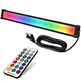 MEIKEE 25W RGBW LED Wall Washer Light, Color Changing LED Strip Light with RF Remote, IP66 Waterproof, 120V RGB LED Light Bar for Outdoor Indoor Lighting Projects Wedding Church Party Stage Lighting