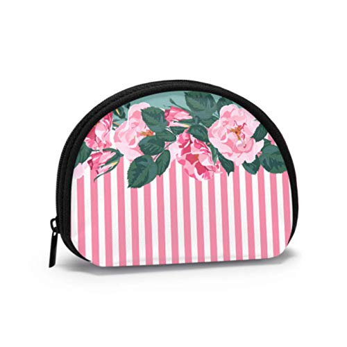 Zip Coin Pouch Beautiful Retro Colorful Floral Petals Wallet Coin Purse Coin Purse Travel with Zipper Cosmetic Makeup Bags for Women Girls Party Gifts and Decorations