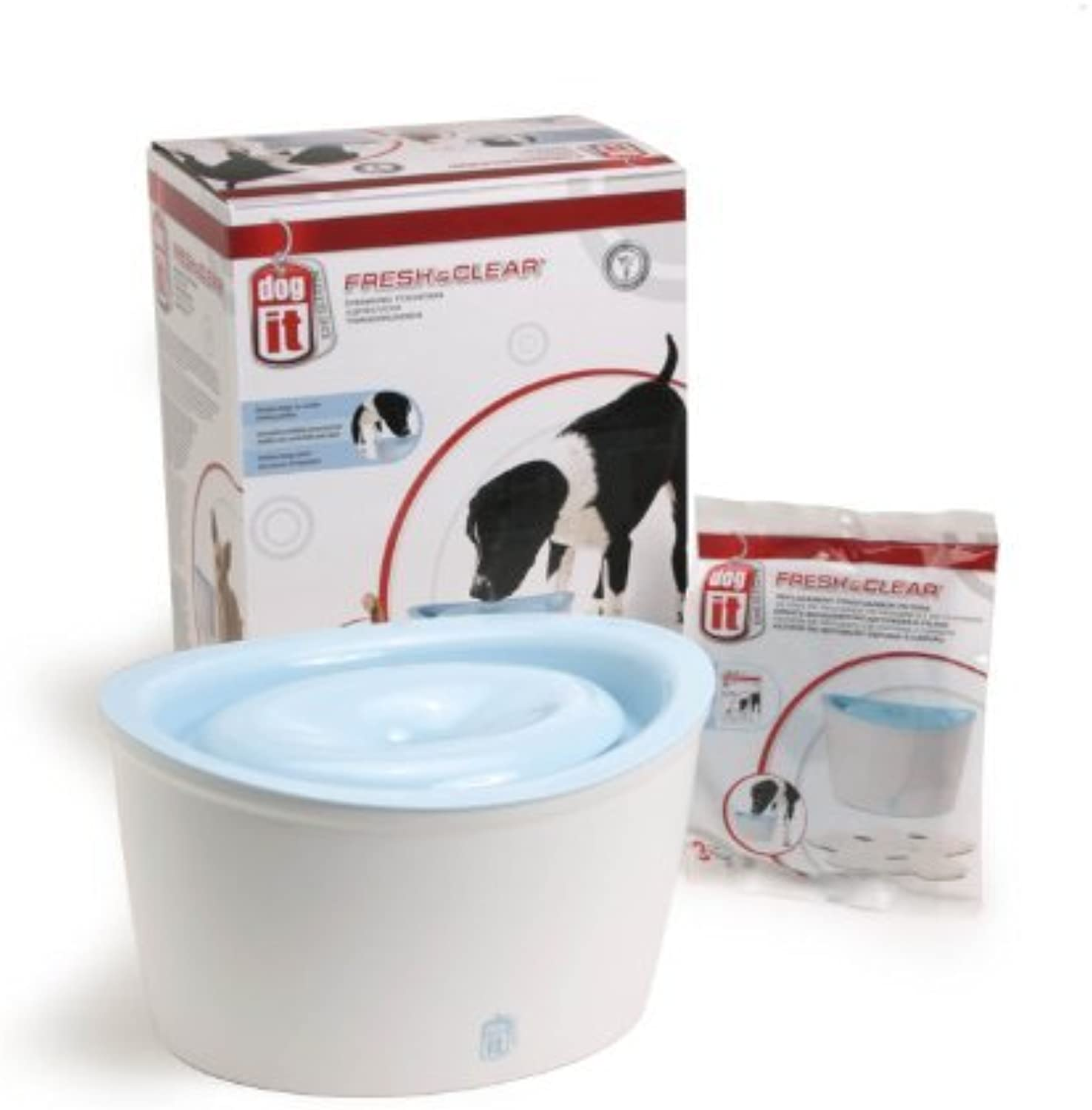 Dogit Design Fresh and Clear Dog Drinking Fountain, Value Bundle by Dogit