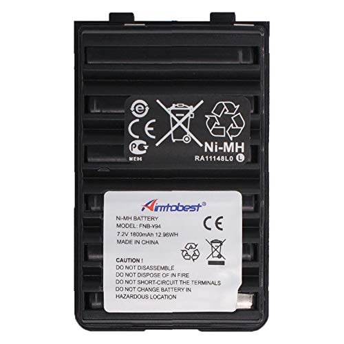FNB-83 FNB-V94 FNB-V57 1800mAh Ni-MH Battery Compatible for Yaesu Vertex FT-60R FT60R FT-60 FT60 VX-150 VX-160 VX-170 VX-180 VXA-220 Standard Horizon HX270S HX370S HX500S HX600S Radio