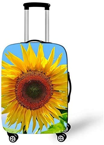 Suitcase Cover Sunflower Pattern Design Protector Suitcase Cover Trolley Case Luggage Storage Covers Size L Travel Trolley Case Cover 26-28Inch