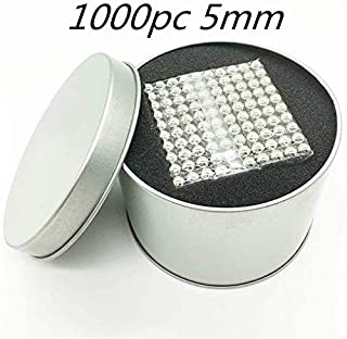 MARS Magnets Blocks Sculpture Toys for Intelligence Development and Stress Relief,Great For Office School Home Education (1000pc(5MM),Silver … Individual Magnets(Silver)