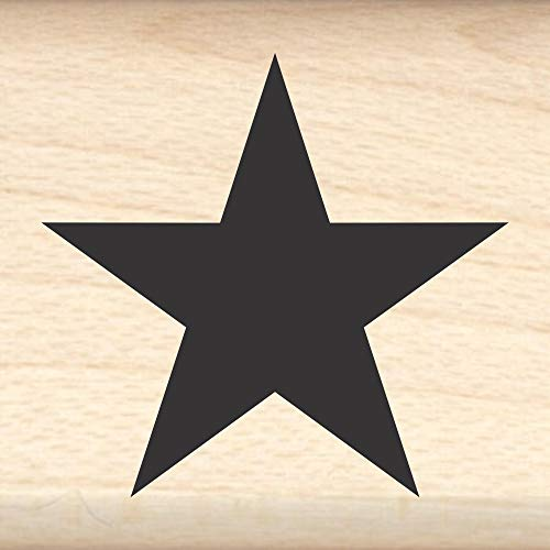 Star Rubber Stamp - 1' x 1' Block - by Stamps by Impression, ST 0112a, ¾ inch