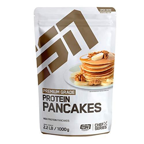 ESN Protein Pancakes – fluffig & lecker – Eiweiß-Pfannkuchen-Mix – zuckerarm & fettarm – 10 große Portionen – 1000g – Made in Germany
