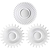 BONNYCO Espejos Pared Decorativos Blancos Pack 3 Espejos Decorativos Ideales para Decoracion Casa, Habitación y Salón | Espejos Redondos Pared Regalos Originales para Mujer | Decoracion Pared