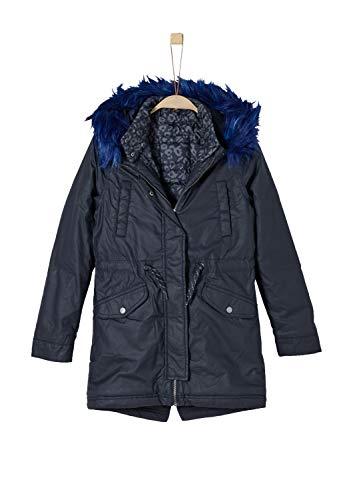 s.Oliver Junior Mädchen 73.809.52.7013 Mantel, Blau (Dark Blue 5834), 140 (Herstellergröße: S)