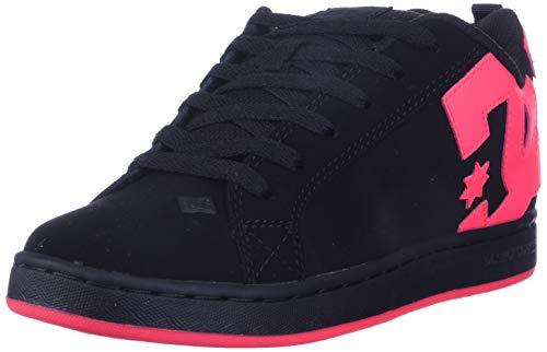 DC Damen Court Graffik Skate Schuh, Schwarz (schwarz/pink), 38.5 EU
