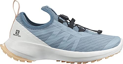 Salomon Sense Flow Kinder Trailrunning-Schuhe, Blau (Ashley Blue/White/Almond Cream), 39 EU