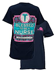 Southern Couture Womens Blessed To Be a Nurse Short-Sleeve Tee Shirt