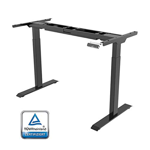 SANODESK Basic Line - elektrisch stufenlos höhenverstellbarer Schreibtisch mit Kollisionschutz,...
