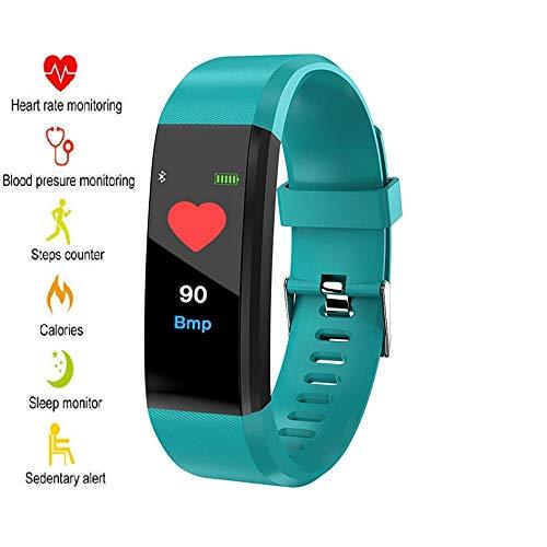 Fitness Tracker Armband mit echtem Pulsmesser, Schrittzähler, Kalorienverbrauch, Schlafmonitor und Blutdruck-Messung. IP67 Fitness-Trackers sind wasserdicht für Damen, Herren und Kinder (grün)