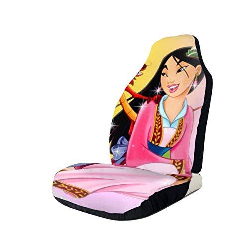 AOOEDM Mulan Fundas de asiento de coche Accesorios Set Super Soft Vehículo Decoración Protector Bolsa 2 Piezas Set