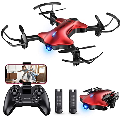 Drone with Camera for Kids, DROCON Spacekey 1080P Remote Control Drone for Beginners With 2 Batteries, FPV Drone App Control, Gravity Control, One-key Return, 3 Speed Modes, Foldable Arms