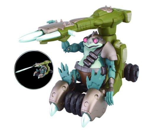 Bandai – Thundercats – Reptile et Reptile Canon – Figurine 10 cm et Véhicule (Import Royaume Uni)