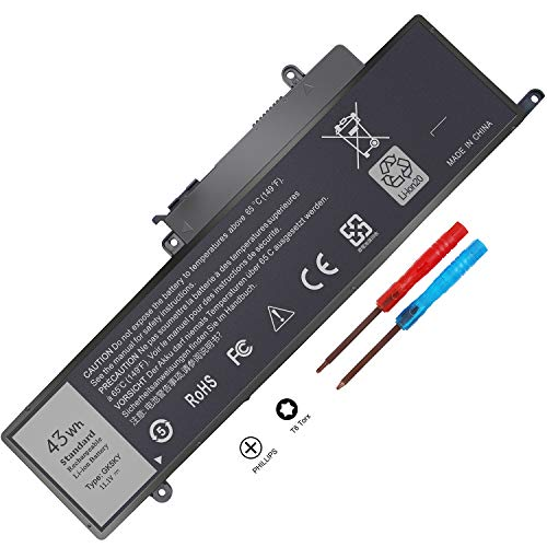 New GK5KY 04K8YH 92NCT Battery Compatible with Dell Inspiron 11 3000 3147 3148 3152 13 7000 7353 7352 7347 7348 7359 7558 7568 Laptop Notebook Battery, 4K8YH 092NCT 11.1V 43Wh