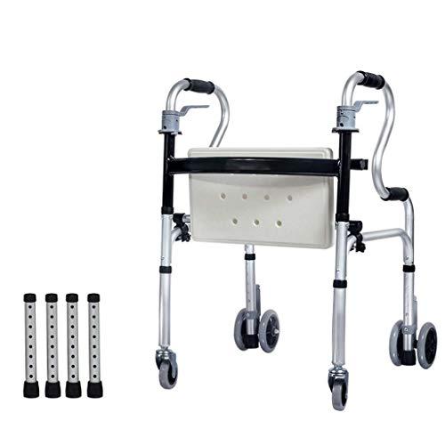 Multifunctionele cane-stoel met dubbele gebruikshulp, opvouwbare verstelbare hoogte cane, voor ouderen, kaneel, vierpoten zilver
