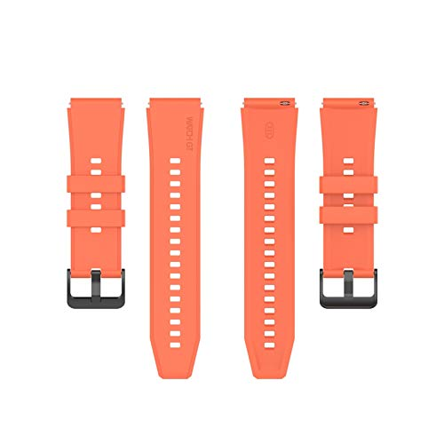 XUEMEI para Huawei GT2 Pro Band Silicone Strap para Huawei GT2 Pro Wheamband Sport para Huawei Watch GT 2 Pro 46mm Pulsera Pulsera 22 Mm (Color : Orange, Size : For Huawei GT2 Pro)