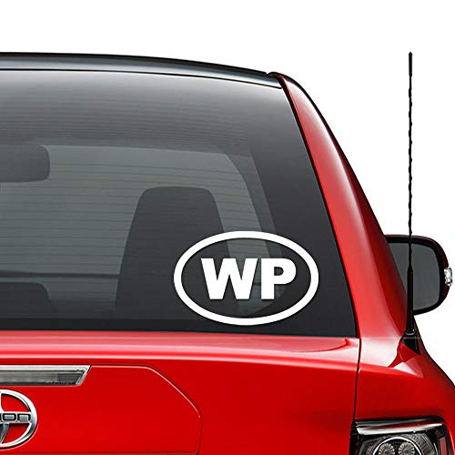 WP Widespread Panic Oval Vinyl Decal Sticker Car Truck Vehicle Bumper Window Wall Decor Helmet Motorcycle and More - (Size 5 Inch / 13 cm Wide) / (Color Gloss White)