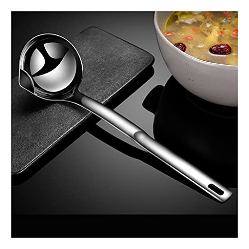 Espejo pulido 304 acero inoxidable grasa trampa de grasa artefacto textura doméstico mango largo filtro sopa cuchara 12 pulgadas de alta calidad filtro cuchara 1psc