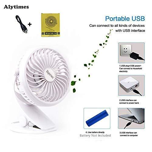 Portable USB Clip Desk Fan 2 in 1 Applications (360