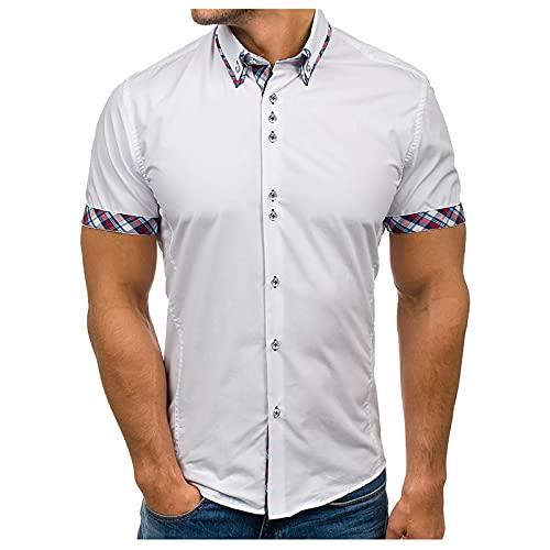 pamkyaemi Langarmshirt Herren Poloshirt Einfarbig Klassisch Basic Kurzarm Polohemd für Business und Sport Polokragenr Regular Fit Golf T-Shirt Trainingsshirt