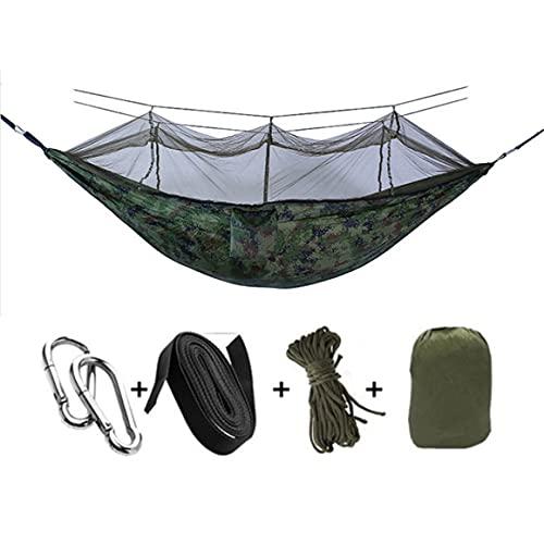 KoelrMsd Hamaca para Acampar para 1-2 Personas Hamaca de Nailon paracaídas portátil al Aire Libre para Dormir Viajes Senderismo