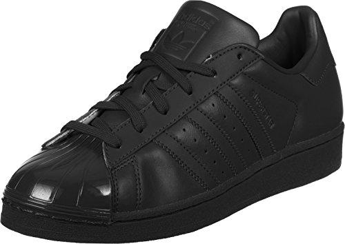 Adidas Superstar Glossy, Zapatillas Mujer, Negro (Cblack/Cblack/Ftwwht), 36 2/3 EU