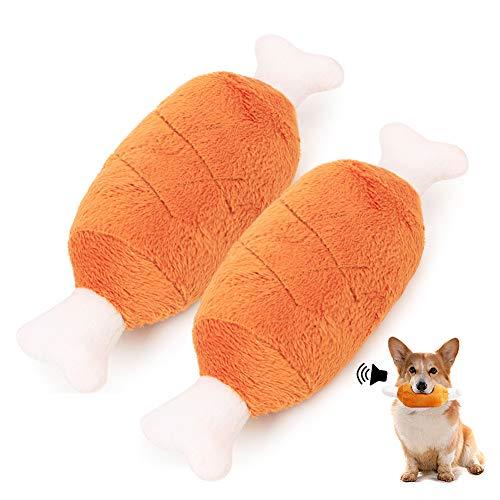 2 PCS Hunde Quietschspielzeug Set, Interaktives Spielzeug Hund, Geeignet für Kleine und Mittelgroße Plüschtier Kauspielzeug Set für Hunde - Natürliche Baumwolle
