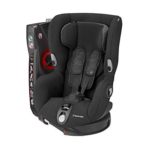 Maxi-Cosi Axiss Kindersitz, 180° drehbarer Kleinkind Gruppe 1 Autositz (ca. 9-18 kg) wächst mit dem Kind und inkl. 8 Sitzpositionen, nutzbar ab ca. 9 Monate bis ca. 4 Jahre, Nomad Black, Schwarz