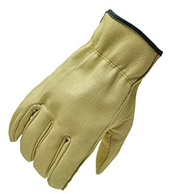 G & F Grain Pigskin Leather Work Gloves, 3-Pair