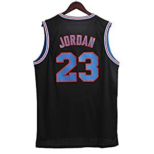 Chic Joias Mens 23# Space Movie Jersey Basketball Jersey S-3XL 90S Hip Hop Clothing for Party Black M