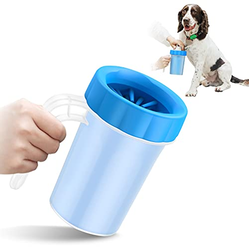 Dog Paw Cleaner with Handle - KENOBEE Kids Friendly Portable Dog Foot Cleaning Brush Cup Washer for...