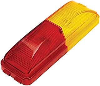 """Kaper II Auxiliary Light incandescent, amber / red, 4.08"""" X 1.08"""" Rating:Rated: p2 pc 99mount:fender mount onlyconnection:standard 2-pole pluglens color:red/ambertested voltage:12.8 VoltsLamp:2 bulb, #194lens material:polycarbonate lenshousing material:abs base."""