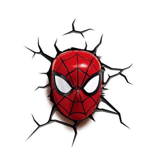 3D Homme araignée Applique murale Veilleuse, Stickers muraux, Enfant, Garçon, Fille, Cadeau de Noël, Cadeau d'anniversaire de Noël, Veilleuse Enfant, A