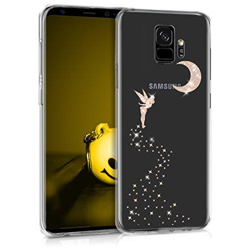 kwmobile Hülle kompatibel mit Samsung Galaxy S9 - Handyhülle - Handy Case Fee Glitzer Rosegold Transparent